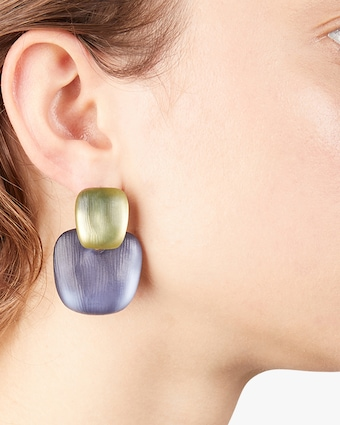 Chunky Layered Square Earrings