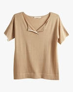 Oyun Split Neck T-Shirt 0