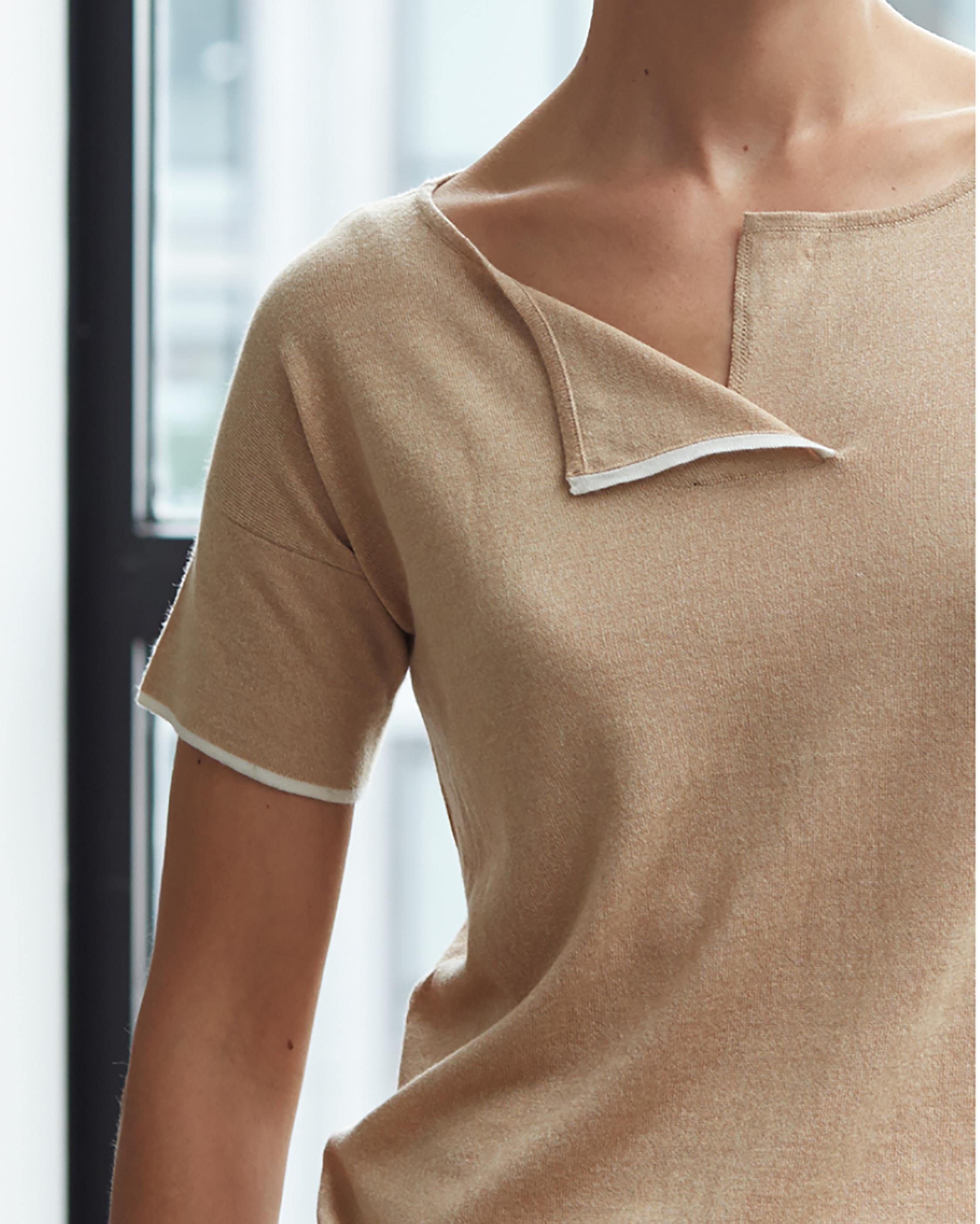 Oyun Split Neck T-Shirt 1