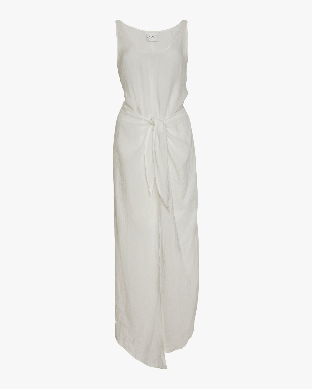 Anemos The D.K. Midi Wrap Dress 0