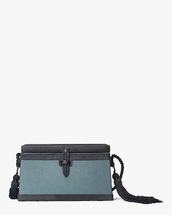 Square Trunk Tasseled Shoulder Bag