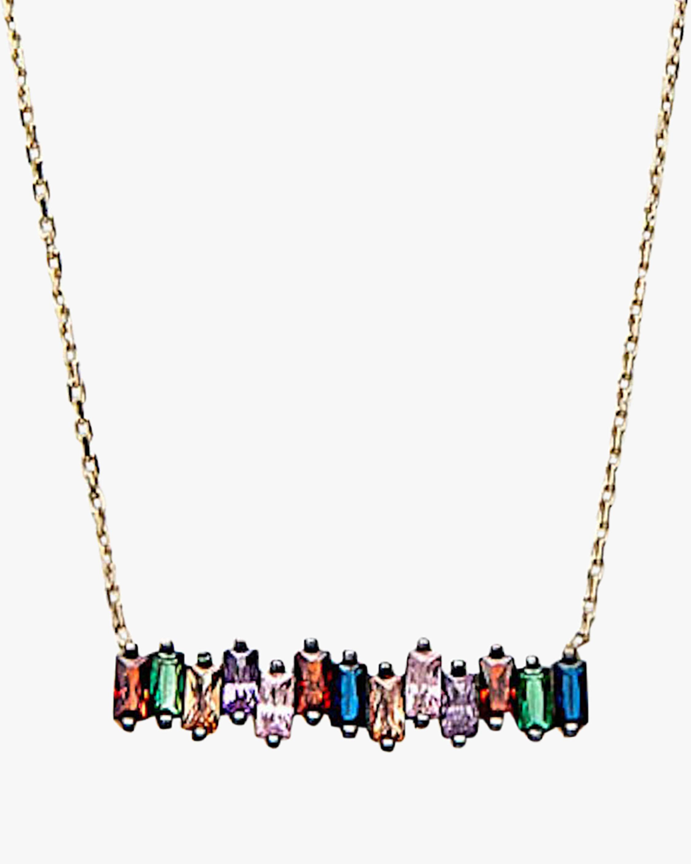 Nickho Rey Baguette Bar Necklace 2