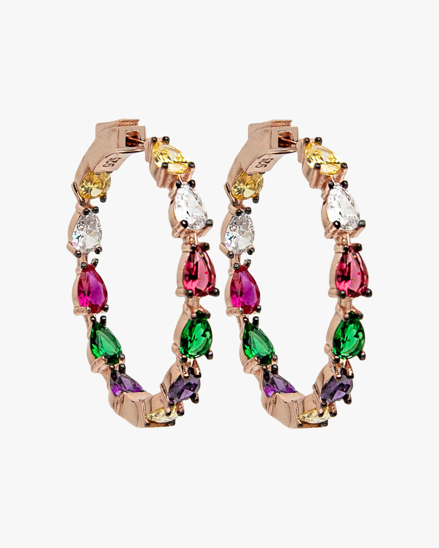 Nickho Rey Gil Hoop Earrings 1