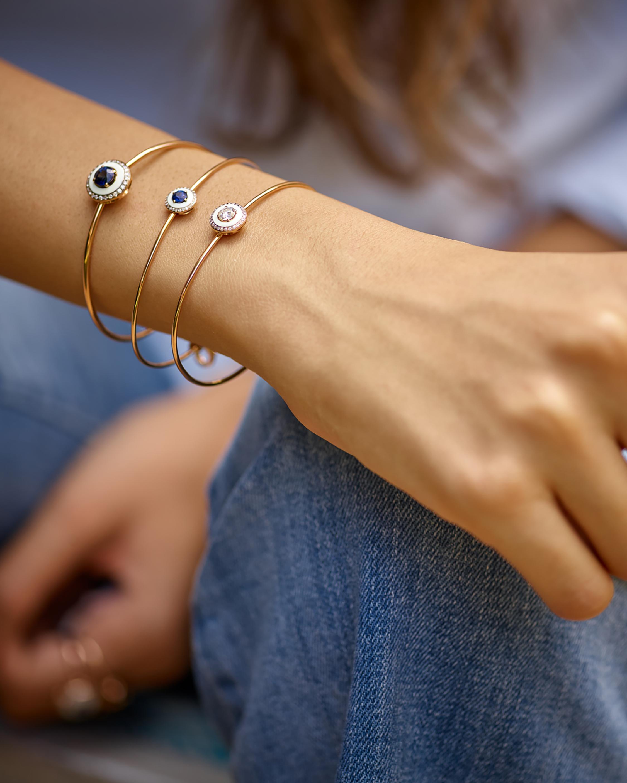 Tsavorite & Diamond Cuff