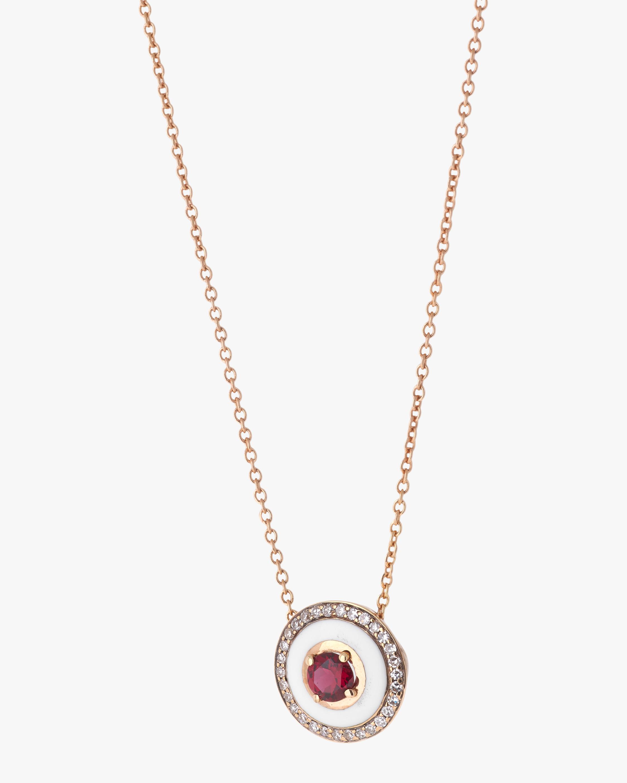 Selim Mouzannar Enamel, Spinel & Diamond Pendant Necklace 1