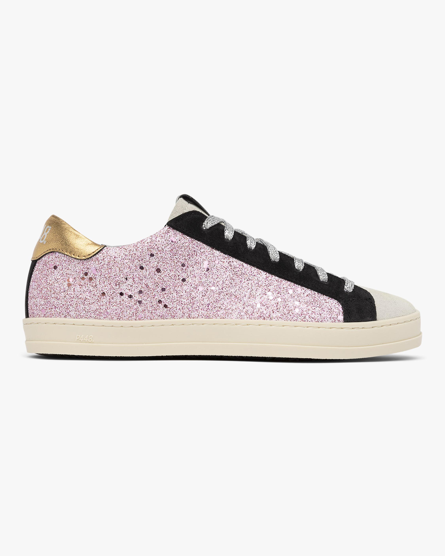 P448 John Pink Glitter Sneaker 1