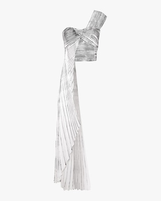 SemSem Pleated Hand-Painted Bustier 1