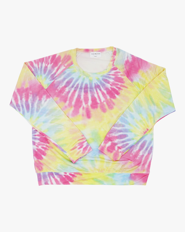Stripe & Stare Tie Dye Sweatshirt 0