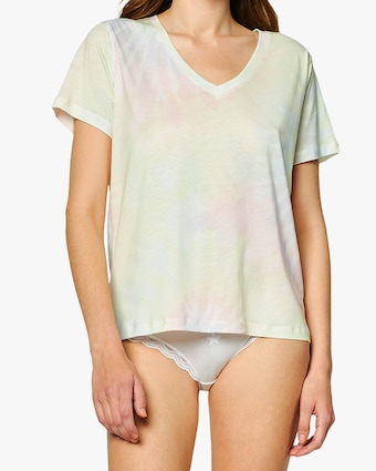 Tie Dye V Neck Top