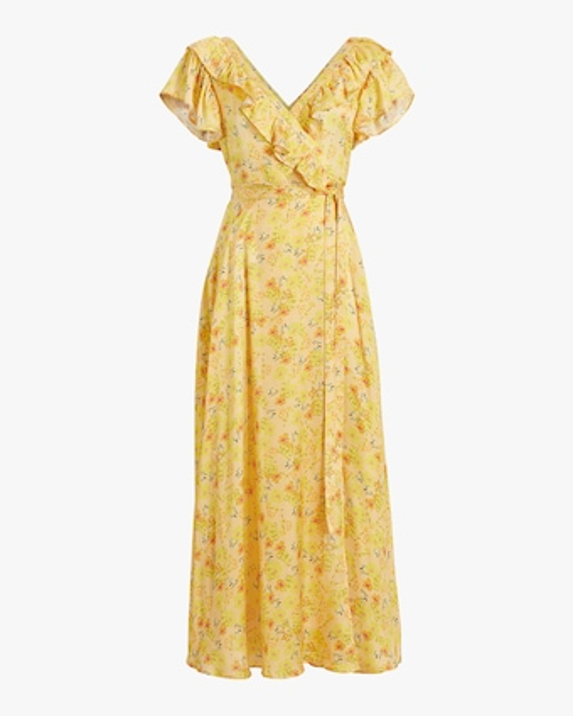 byTimo Satin Midi Wrap Dress 1