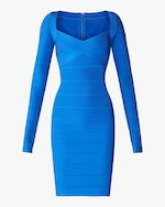 Herve Leger Cross Bust Icon Dress 0