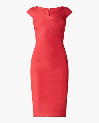 Herve Leger Cross Bust Icon Dress 1