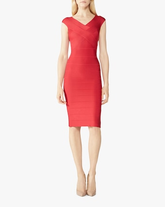 Herve Leger Cross Bust Icon Dress 2