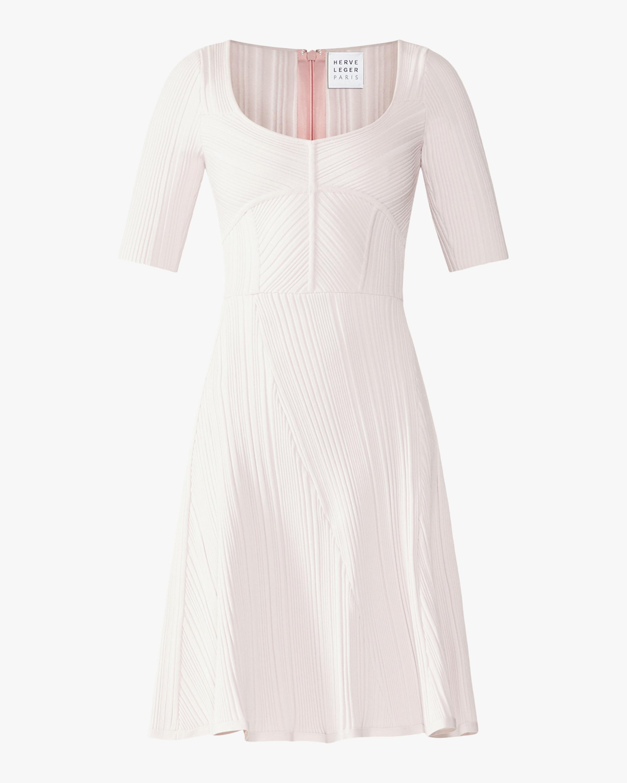 Rib Knit Flare Dress