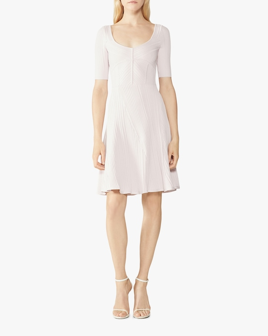 Herve Leger Rib Knit Flare Dress 1
