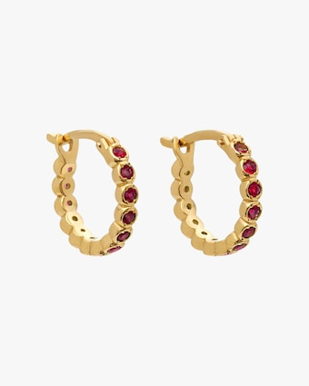 Ruby Chloe Hoop Earrings