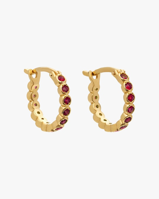 Octavia Elizabeth Ruby Chloe Hoop Earrings 0