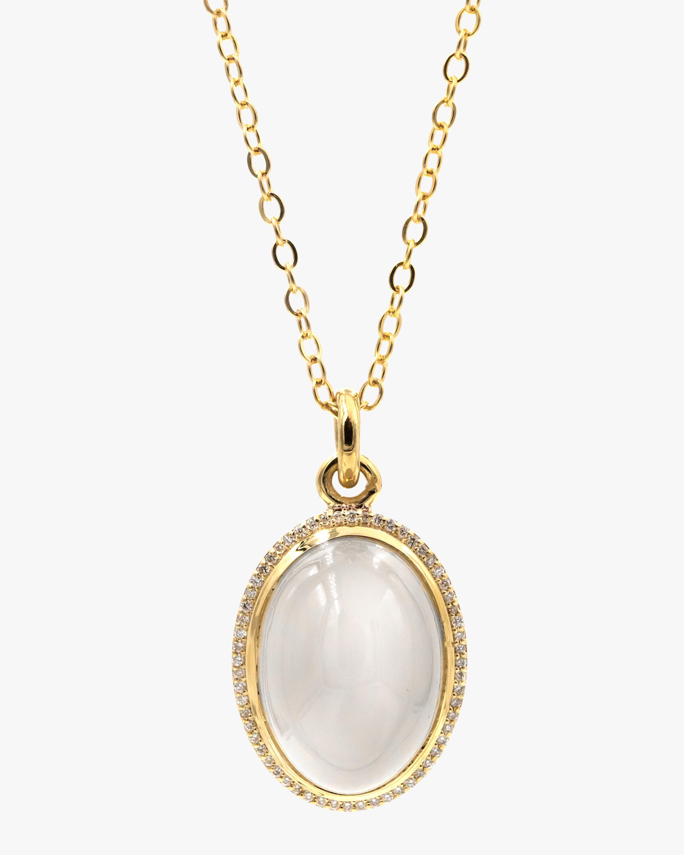Octavia Elizabeth Moonstone & Diamond Pendant Necklace 0