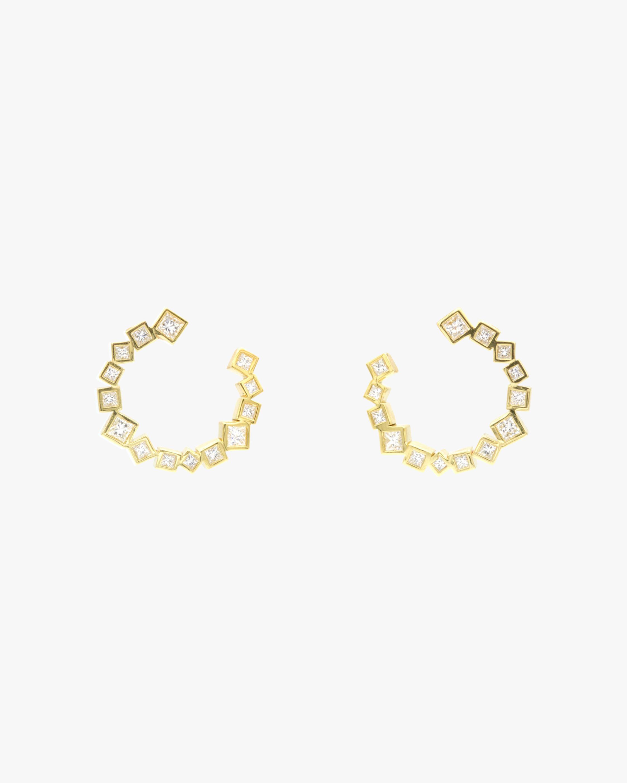 Ivy Fan Hoop Earrings