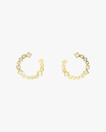 Ivy Fan Hoop Earrings