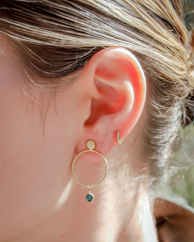 Octavia Elizabeth Sapphire & Diamond Earrings 1