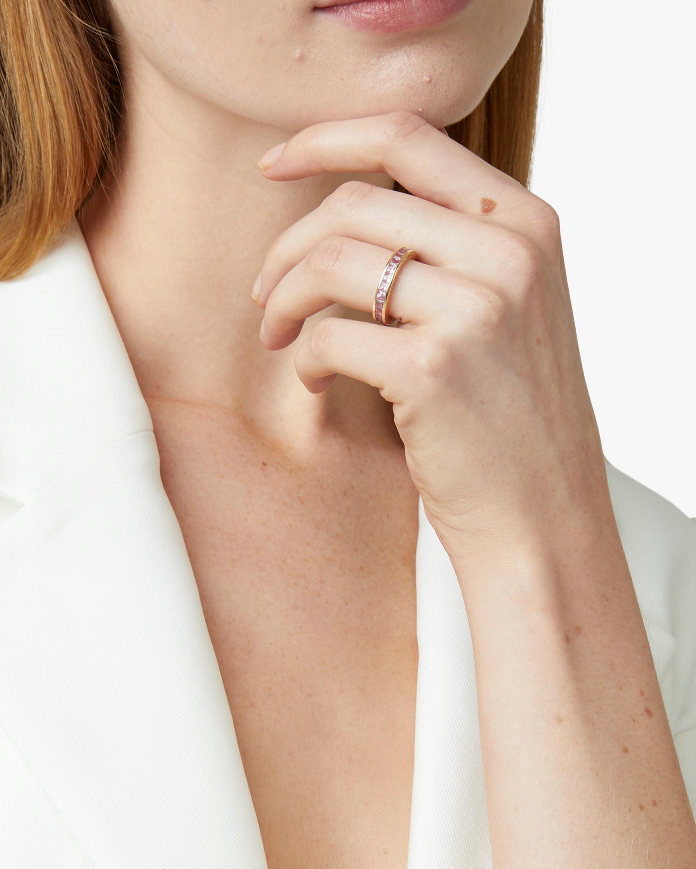Octavia Elizabeth Pink Sapphire Ivy Anniversary Ring 1