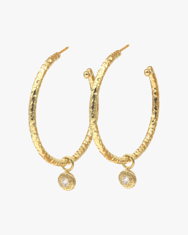 Diamond Nesting Gem Hoop Earrings