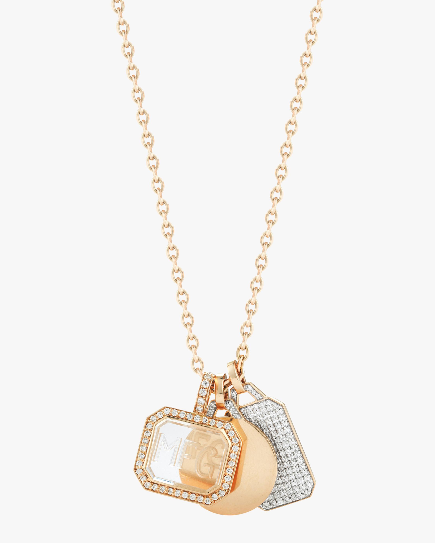 Diamond Mini Rectangular Charm