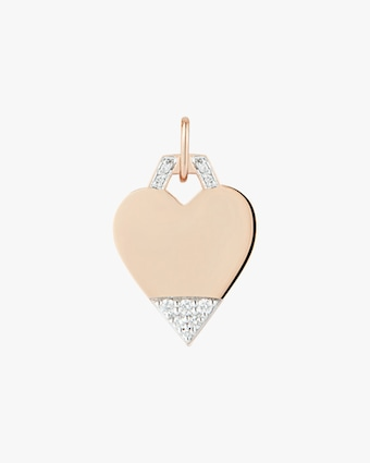 Pavé Mini Heart Charm