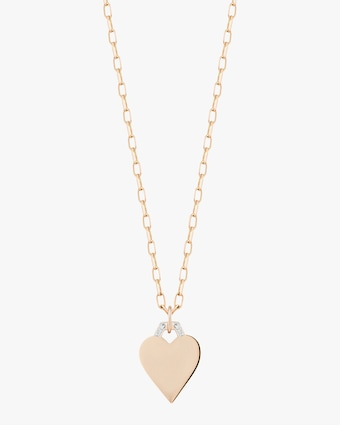 Half-Hex Mini Heart Charm