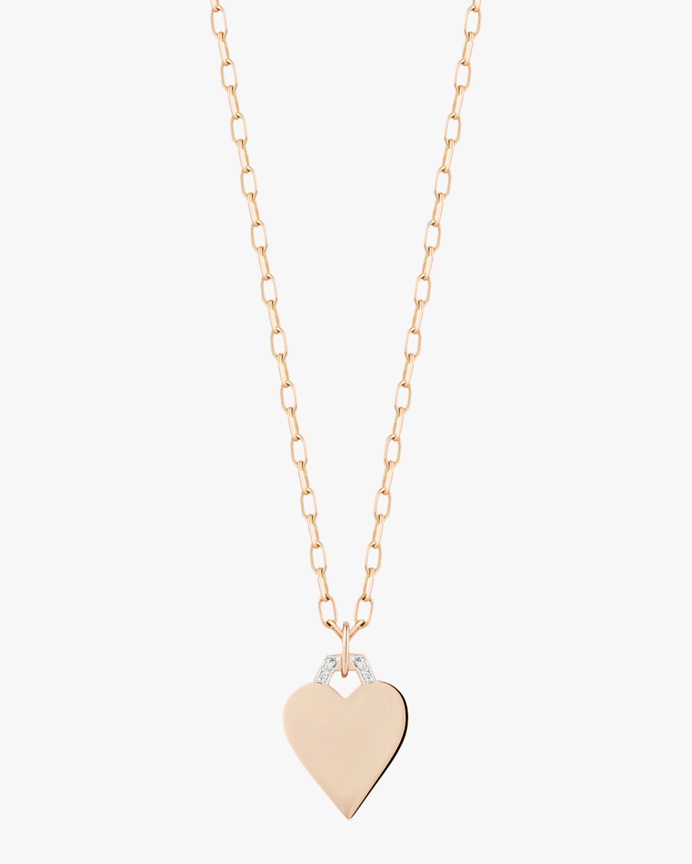 Half-Hex Mini Heart Charm