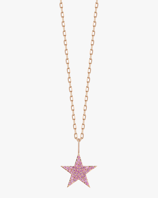 Pink Sapphire Star Pendant