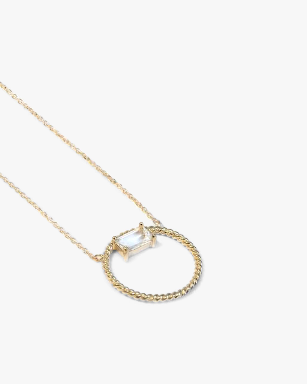 Jac + Jo White Topaz Open-Circle Pendant Necklace 1