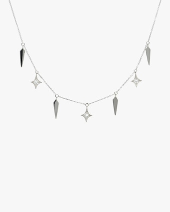 Jac + Jo White Topaz Station Necklace 1