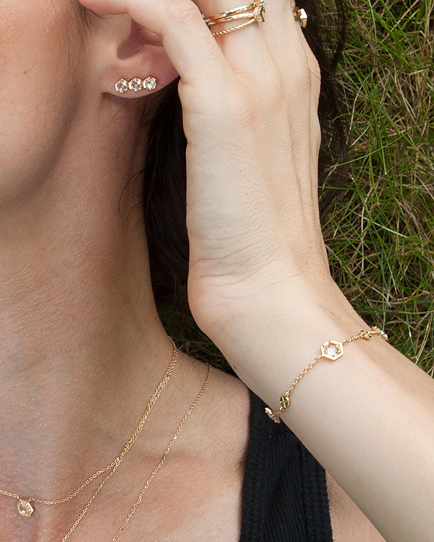 Jac + Jo White Topaz Station Bracelet 1