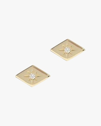 Jac + Jo Diamond Stud Earrings 1