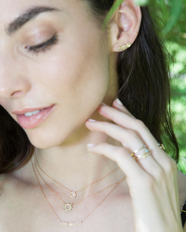 Jac + Jo Cog Mini Pavé Necklace 1