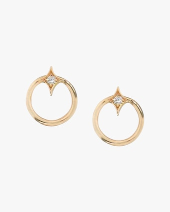 Jac + Jo Gothic Diamond Open-Circle Stud Earrings 1