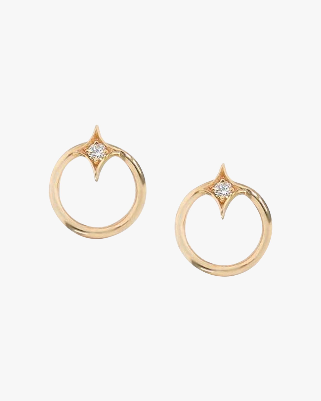Jac + Jo Gothic Diamond Open-Circle Stud Earrings 0
