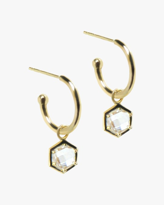 Jac + Jo Bolt Hoop Earrings 0