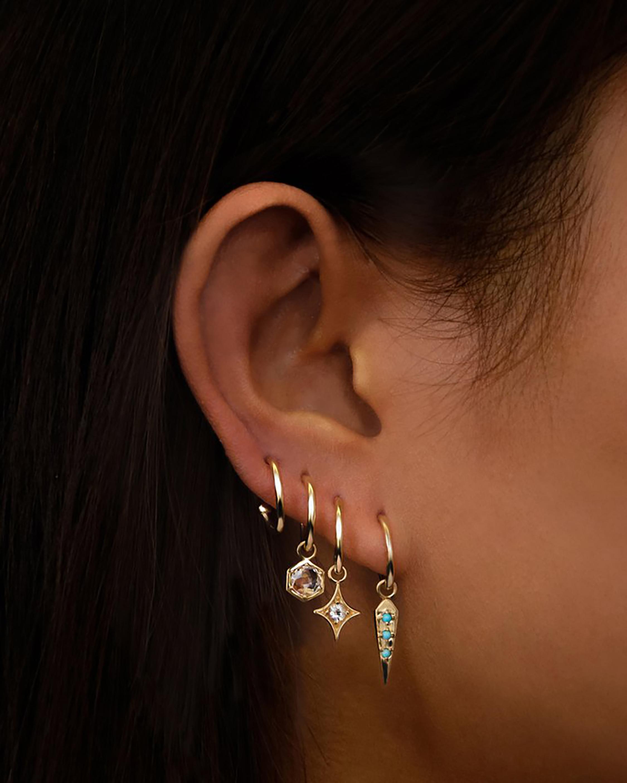Bolt Hoop Earrings