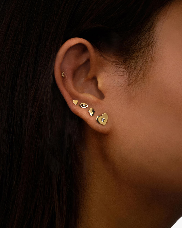 Jac + Jo Heart Stud Earrings 2