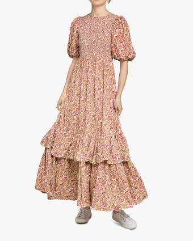 Smocking Maxi Dress