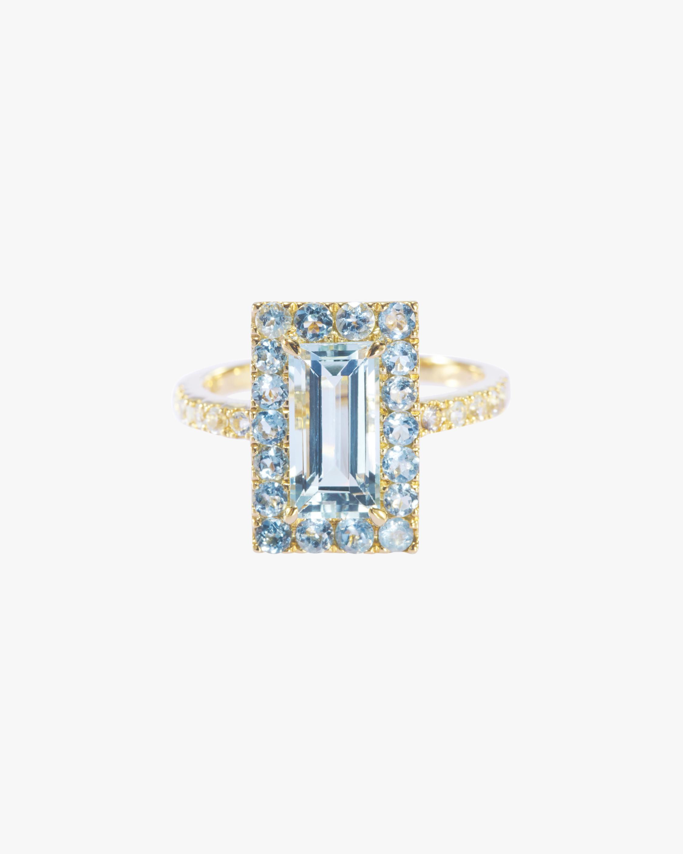 Aquamarine Tonal Deco Ring