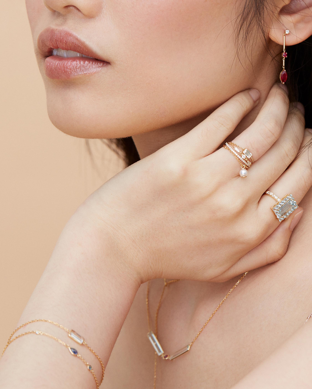 Yi Collection Aquamarine Tonal Deco Ring 1