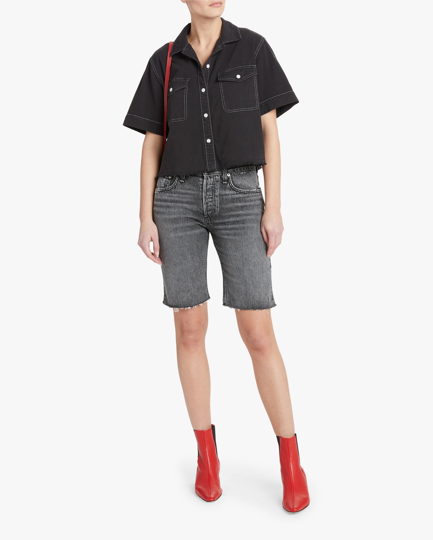 rag & bone Rosa Mid-Rise Walking Shorts 1