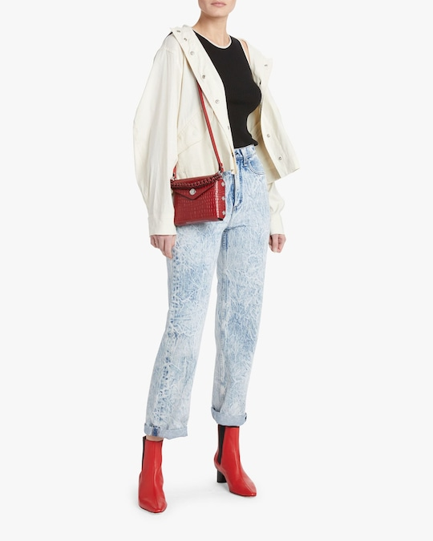 rag & bone Ruth Super High-Rise Straight Jeans 1