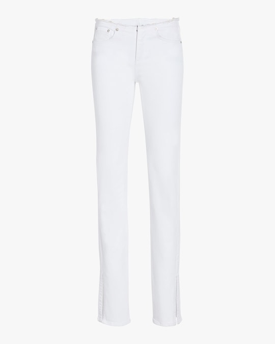 rag & bone Cate Low-Rise Cut-Off Flare Jeans 0