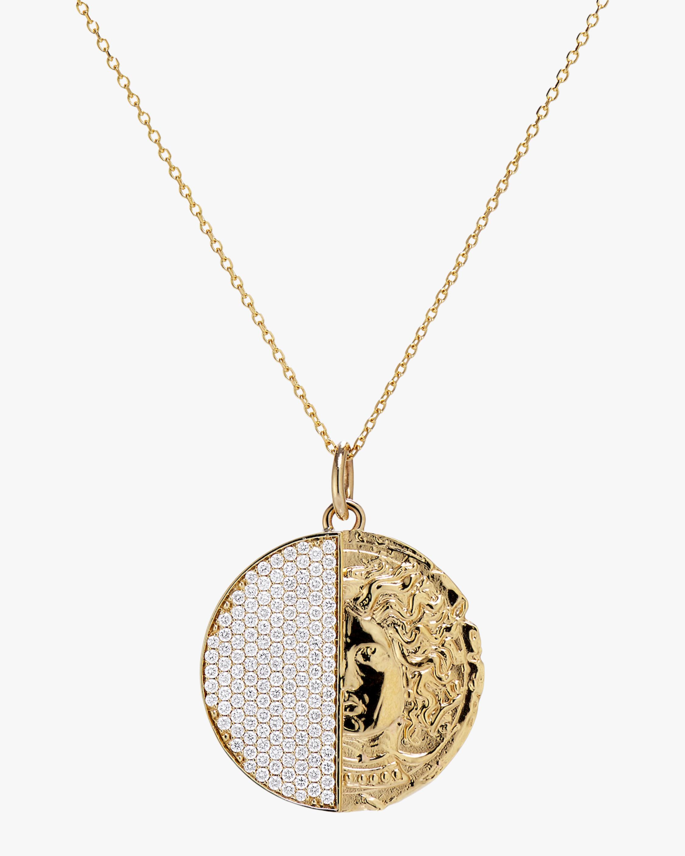 Swati Dhanak Half Coin Pendant Necklace 1