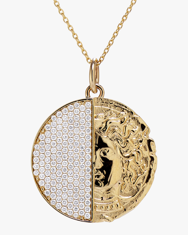 Swati Dhanak Half Coin Pendant Necklace 2